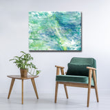 'Cool Aqua Ocean Reef' Wrapped Canvas Abstract Wall Art