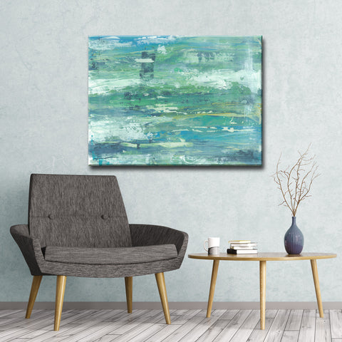Max+E ' Seafoam Coast ' Canvas Art Print
