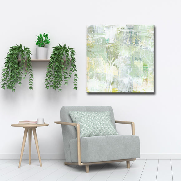 'Olives and Doves' Wrapped Canvas Abstract Wall Art
