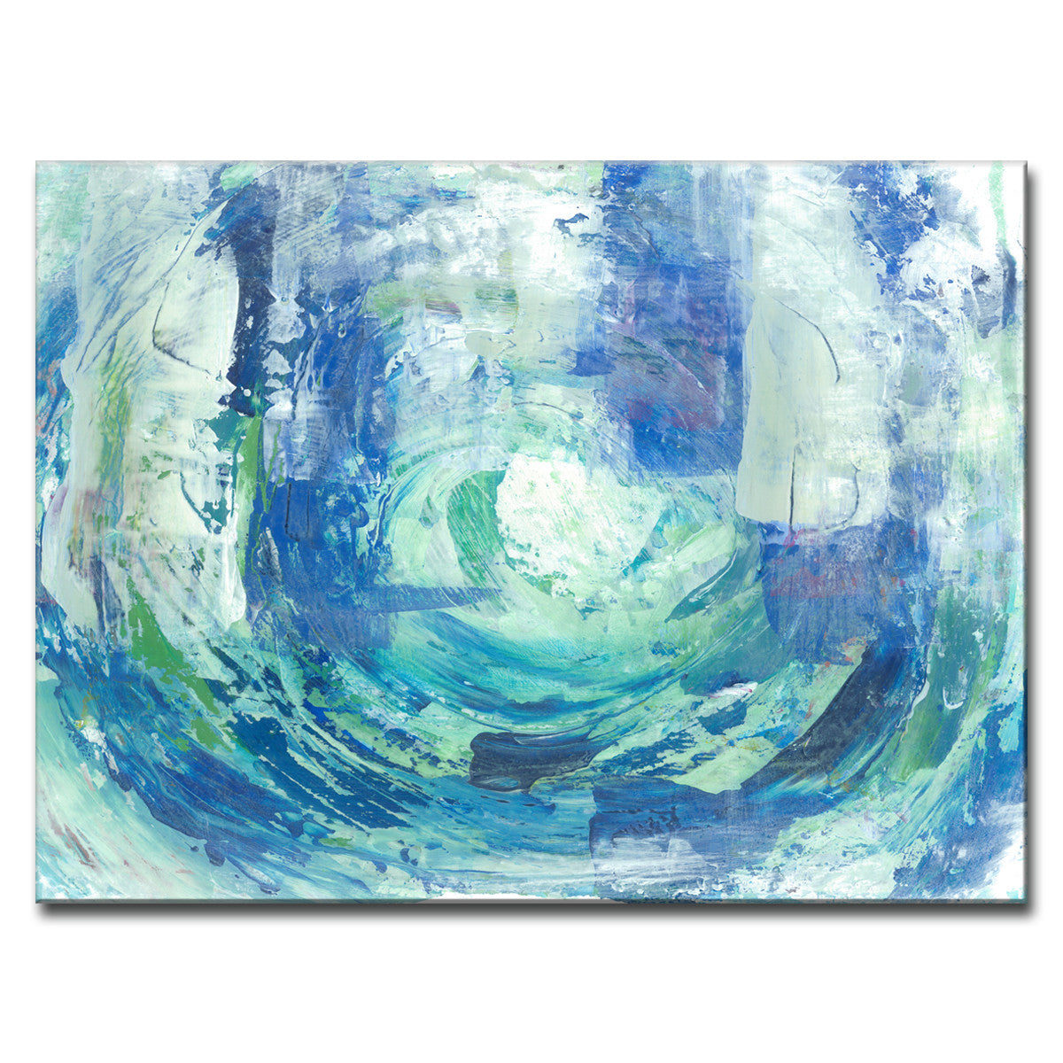Calming blue spa wrapped canvas abstract wall art ready2hangart