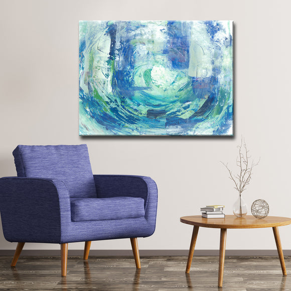 Max+E 'Calming Blue Spa' Canvas Art Print