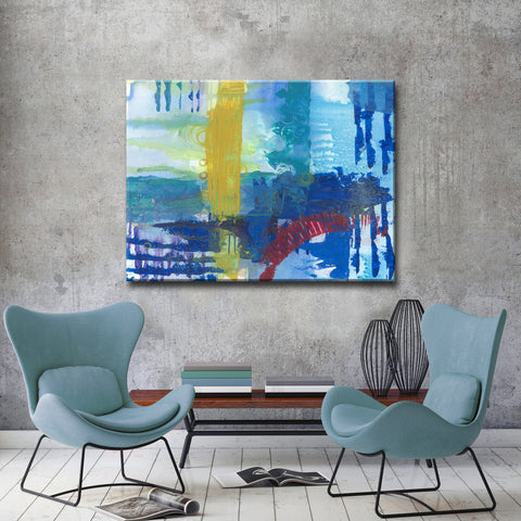 Max+E 'Primary Underwater Oasis' Canvas Art Print