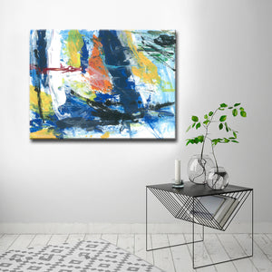 Max+E 'Primary Abstract' Canvas Art Print