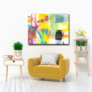 Max+E 'Neon Beach Abstract' Canvas Art Print