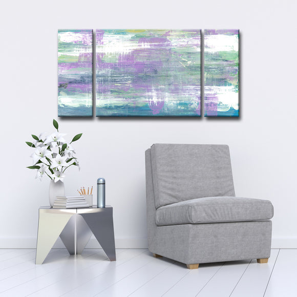 'Lavender Calm Morning' 2-Pc Wrapped Canvas Abstract Wall Art Set