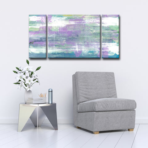 Max+E 'Lavender Calm Morning' 3 Piece Canvas Art Set