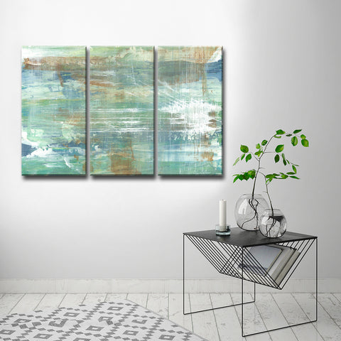 Max+E 'Warm Copper Patina' 3 Piece Canvas Art Set