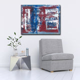 'Red, White & Blue' Wrapped Canvas Abstract Wall Art