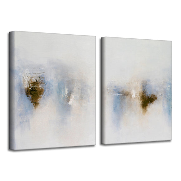 'Light Glimpse I & II' Wrapped Canvas Art Set