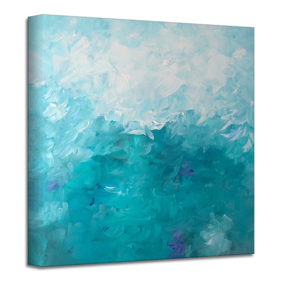'Sea Lily' Wrapped Canvas Art