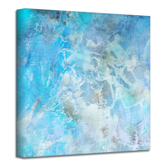 'Abstract Sea' Wrapped Canvas Art