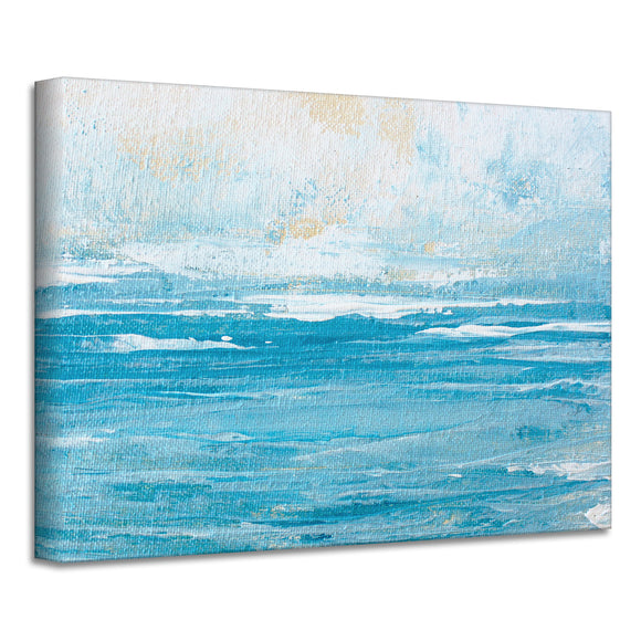 'Abstract Sunrise' Wrapped Canvas Art