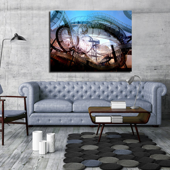 Ready2HangArt Indoor/Outdoor Wall Décor 'Mad House' in ArtPlexi by NXN Designs