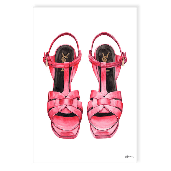 'Red Pumps' Wrapped Canvas Wall Art