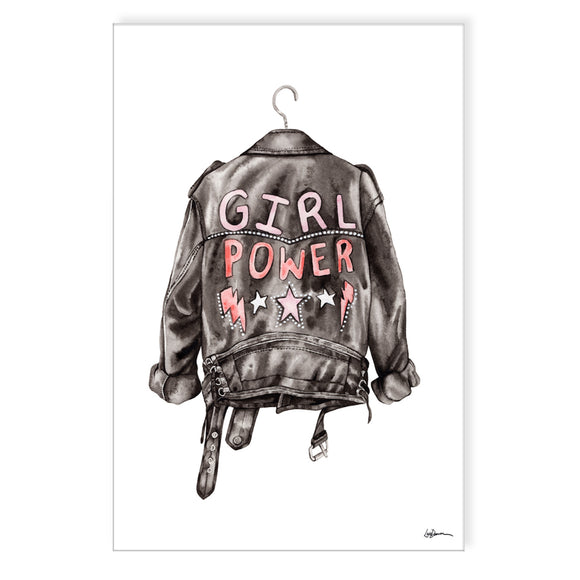 'GRL PWR' Wrapped Canvas Wall Art