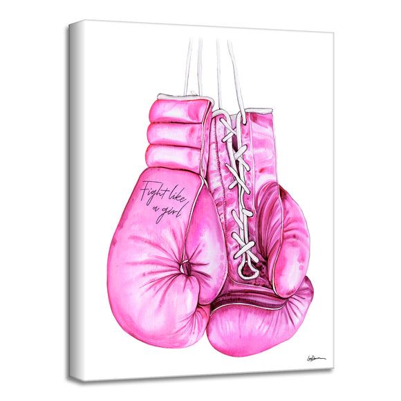 'Fight Like a Girl' Wrapped Canvas Wall Art