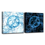 Ready2HangArt™ 'Aqueous Trance XIX-AB' by Tristan Scott Canvas Art Set
