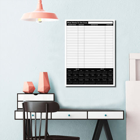 R2H Methods 'What Needs to Get Done' Dry Erase Task Planner on ArtPlexi