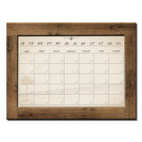 R2H Methods 'Natural' Dry Erase Monthly Calendar on ArtPlexi