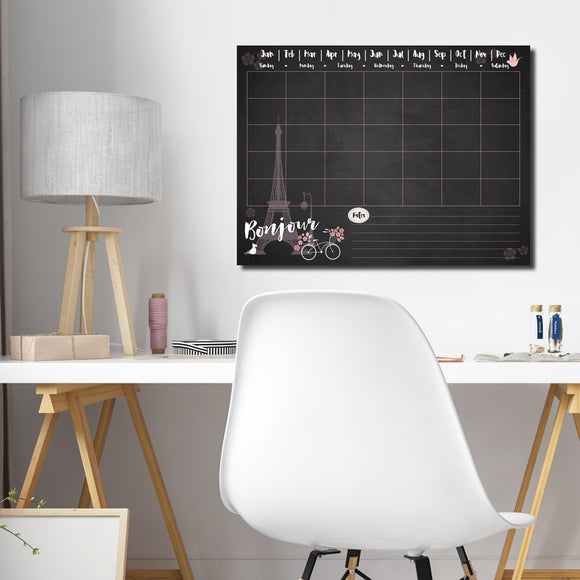 R2H Methods 'Bonjour' Dry Erase Monthly Calendar on ArtPlexi