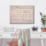 R2H Methods 'Rustic' Dry Erase Monthly Calendar on ArtPlexi