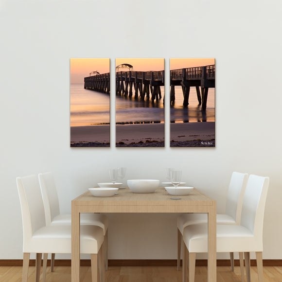 Nicola Lugo 'At Bay'  20x48-inch Canvas Wall Art (3-piece Set)