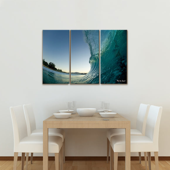 Nicola Lugo 'Waves'  20x48-inch Canvas Wall Art (3-piece Set)