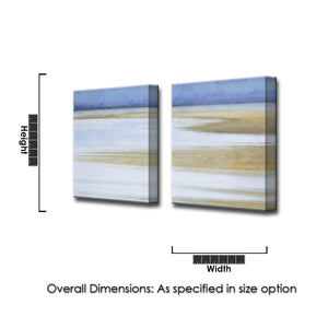 'Coast at Dawn' 2 Piece Wrapped Canvas Wall Art Set
