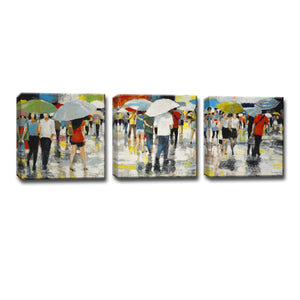 Ready2HangArt™ 'Umbrellas' by Norman Wyatt Jr. 3-pc Wrapped Canvas Art Set