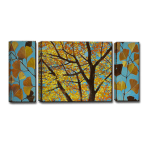 Ready2HangArt™ 'Brilliant Ginkgo' by Norman Wyatt Jr. 3-pc Wrapped Canvas Art Set