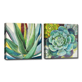 Ready2HangArt™ 'Brilliant Succulents I/II' by Norman Wyatt Jr. Canvas Art Set