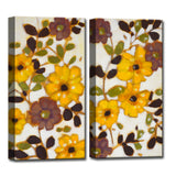 Ready2HangArt™ 'Glowing Florals' by Norman Wyatt Jr. Canvas Art Set