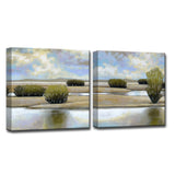 Ready2HangArt™ 'Desert Pools I/II' by Norman Wyatt Jr. Canvas Art Set