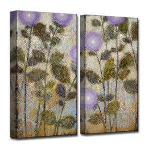 'Amethyst' 2 Piece Wrapped Canvas Wall Art Set