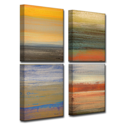 4 Piece Wall Art ready2hangart 4 piece wall art set (18 x 48) 'destiny i-iv'norman