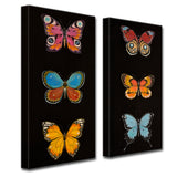 Ready2HangArt 2 Piece Wall Art Set 'Butterfly Trio I/II' by Hope Hansen