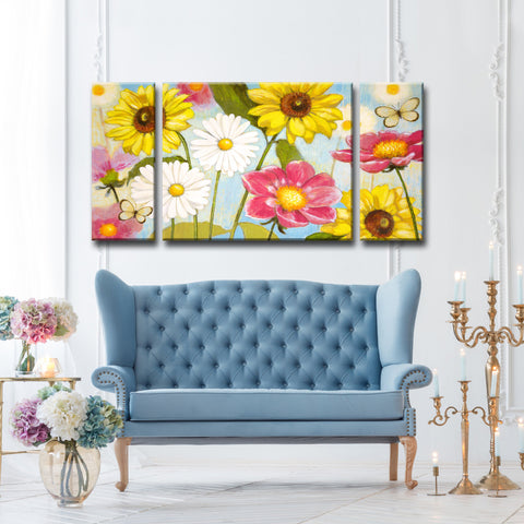 Ready2HangArt 3 Piece Wall Art Set (30 x 60) 'Glorious Day' by Hope Hansen