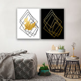 Ready2HangArt Wrapped Canvas 'Gilt Mod I/IB' 2 Piece Wall Décor