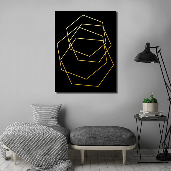 Ready2HangArt Wall Décor 'Gilt Mod III-B' in ArtPlexi