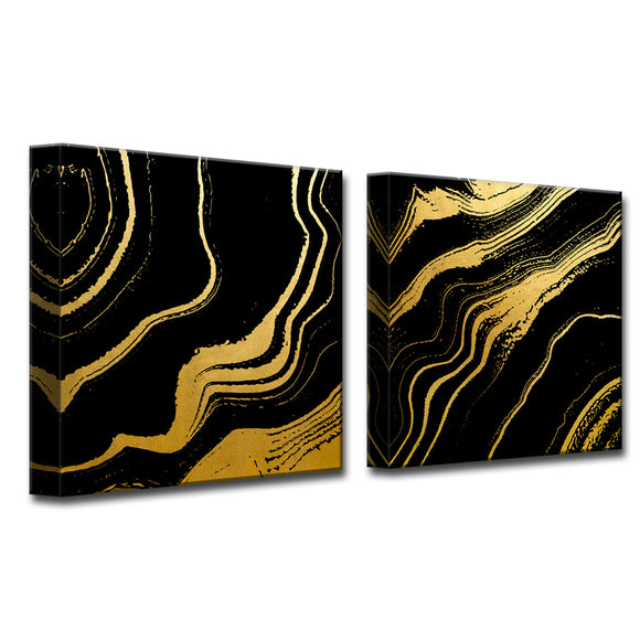 Ready2HangArt Wrapped Canvas 'Gilt Mod IV/V' 2 Piece Wall Décor
