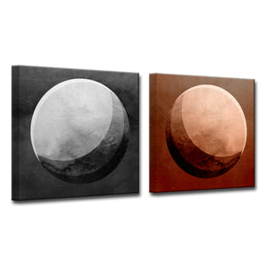 'Phases I/II' 2 Piece Wrapped Canvas Wall Art