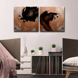 Ready2HangArt Wrapped Canvas 'Gilt Mod XI/XII' 2 Piece Wall Décor