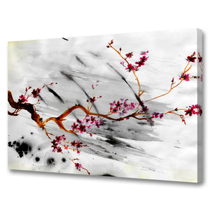'Painted Petals XII' Canvas Wall Art