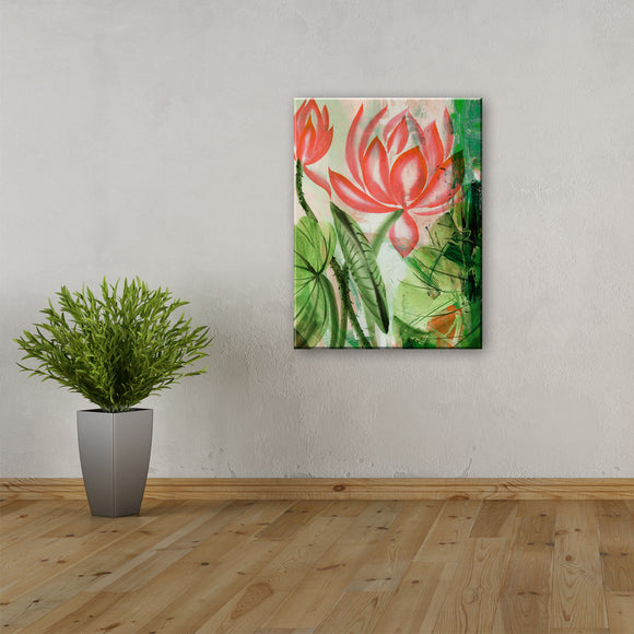 Ready2hangart 'Painted Petals LIII' Canvas Wall Art