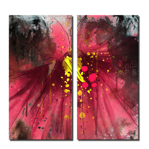 'Painted Petals LV' Canvas Wall Art