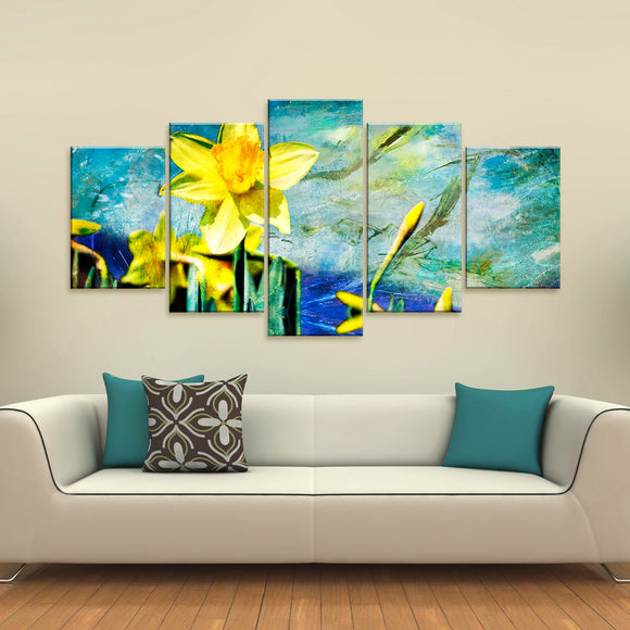 Ready2hangart o 'Painted Petals VII' 5-piece Canvas Wall Art