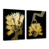 Ready2HangArt Wrapped Canvas 'Mod Swag IV' 2 Piece Wall Décor