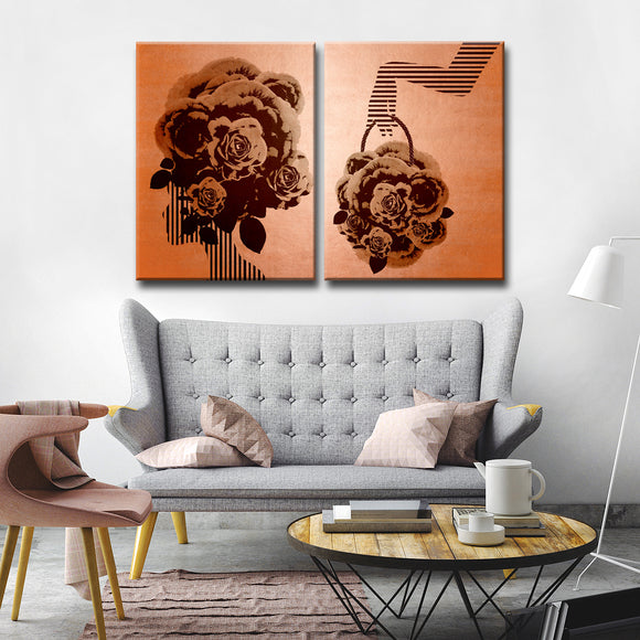 Ready2HangArt Wrapped Canvas 'Mod Swag III' 2 Piece Wall Décor