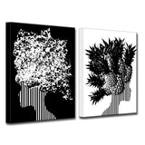 Ready2HangArt Wrapped Canvas 'Mod Swag I' 2 Piece Wall Décor