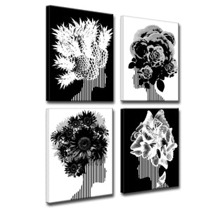 'Mod Swag' Four Piece Wrapped Canvas Wall Art